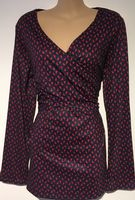 PATPAT NAVY RED PRINT LONG SLEEVED NURSING TOP BNWT SIZE 18